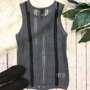 EDUN Linen Sweater vest Small